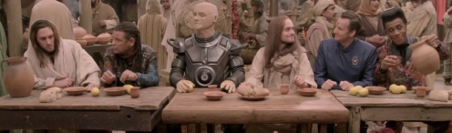 RED DWARF 10.3, 'Lemons' - The Boys from the Dwarf recreate the Last Supper with Jesus of Caesarea