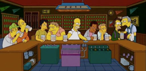 Simpsons LastSupper