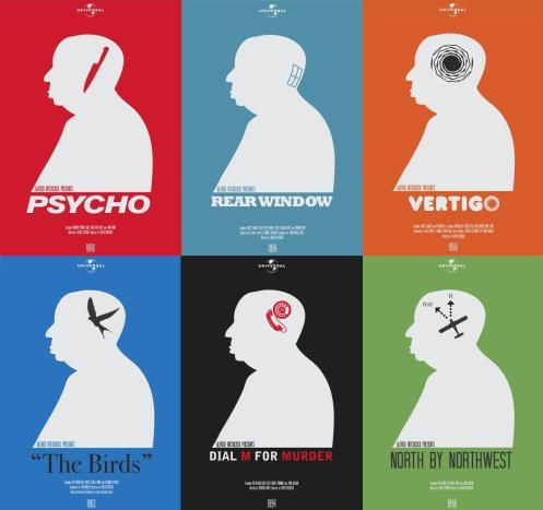 Modern Hitchcock Posters