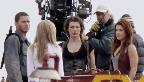 Milla Jovovich as Alice On Set For Resident Evil Afterlife