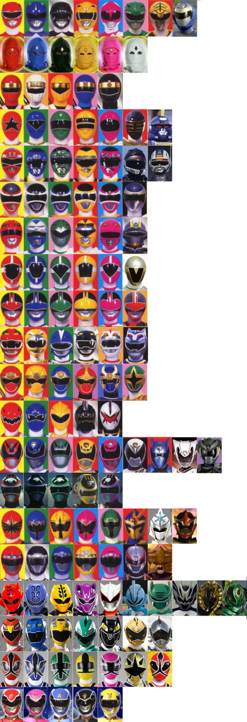 Power rangers helmets