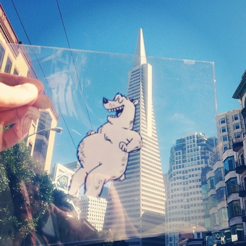 This giant polar bear frightened the citizens of San Francisco, but all he really wanted was a good back rub