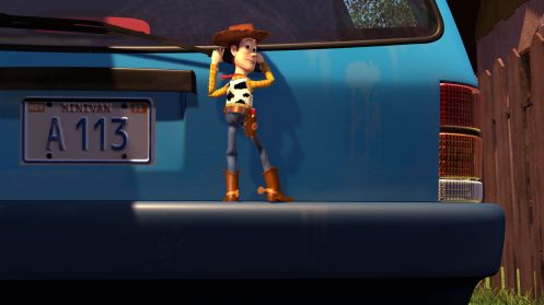 ÒA113Ó moment in TOY STORY. ©Disney/Pixar.  All Rights Reserved.