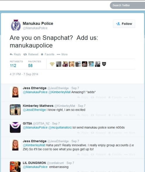 Snapchat with ManukauPolice