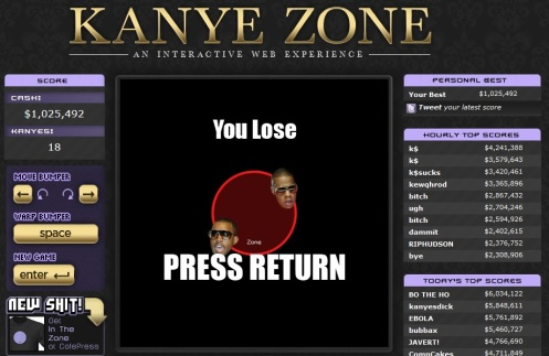 Don't let Kanye into his zone Kanye Zone