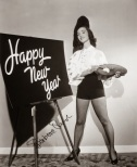 Barbara Rush. Also painting a happy new year sign.