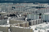 Built in 1970 for the scientists and workers of the Chernobyl Nuclear Power Plant, the city of Pripyat, located less than 3 km from the reactor, was once inhabited by nearly 50,000 residents and brimming with life. Authorities did not immediately warn residents of the accident and ordered the evacuation a full 36 hours after the explosion. Pripyat, Ukraine, 1993 (Gerd Ludwig/INSTITUTE)