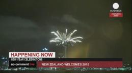 New Year - Sky Tower in Auckland
