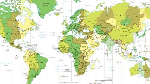 Time Zone Deviants, Part I -- The strangest time zones in the world map