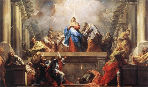 Jean II Restout - Pentecôte. A Western depiction of the Pentecost, painted by Jean II Restout, 1732.