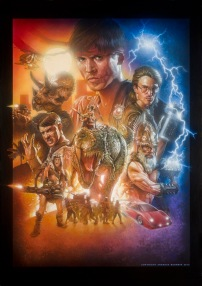 Kung Fury Official Poster - Airbrushed by illustrator Andreas Bennwik (http://andreasbennwik.se/)
