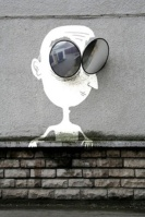 """Lunette Man"" by Sandrine Estrade Boulet. Photo from Sandrine Estrade Boulet's website"