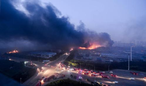 According to reports, more than 1,000 firefighters were sent to the the disaster site.