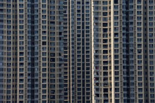 Windows of a nearby high rise building were shattered. (Wu Hong)